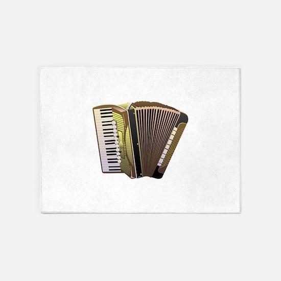 Musical instrument Accordion design 5'x7'Area Rug
