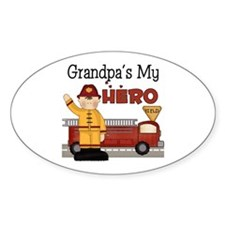 Grandpas My Hero Firefighter Decal