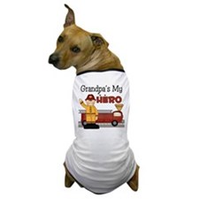 Grandpas My Hero Firefighter Dog T-Shirt