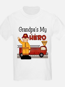 Grandpas My Hero Firefighter T-Shirt