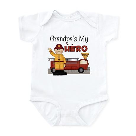 Grandpas My Hero Firefighter Infant Bodysuit