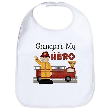 Grandpas My Hero Firefighter Bib