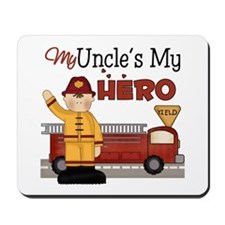 Uncles My Hero Firefighter Mousepad