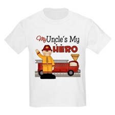 Uncles My Hero Firefighter T-Shirt