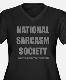 National Sarcasm Society Plus Size T-Shirt