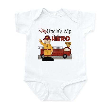 Uncles My Hero Firefighter Infant Bodysuit