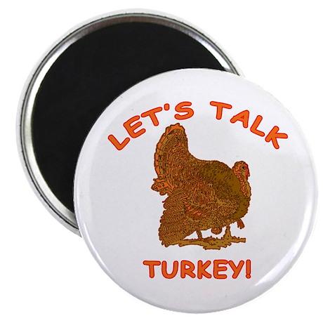 "THANKSGIVING Lets Talk Tur 2.25"" Magnet (100 pack)"