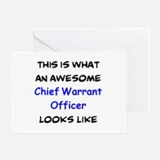 chief warrant officer Greeting Card