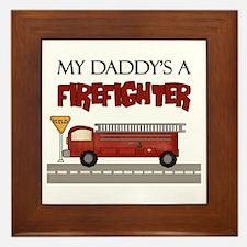 Daddys A Firefighter Framed Tile