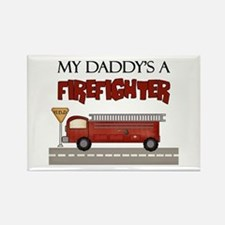 Daddys A Firefighter Rectangle Magnet