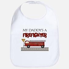 Daddys A Firefighter Bib