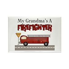 Grandmas A Firefighter Rectangle Magnet