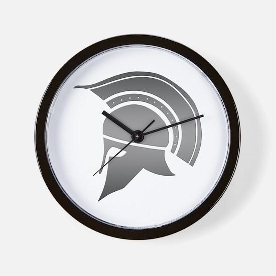 Ancient Greek Spartan Helmet Wall Clock