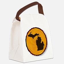 Unique Section Canvas Lunch Bag