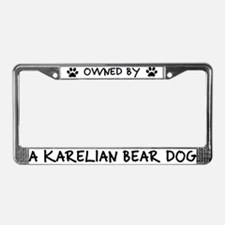 Owned by a Karelian Bear Dog License Plate Frame