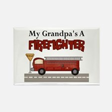 Grandpas A Firefighter Rectangle Magnet
