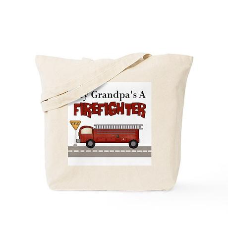 Grandpas A Firefighter Tote Bag