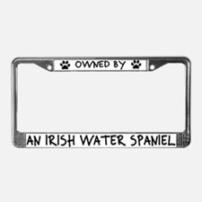 Owned by Irish Water Spaniel License Plate Frame