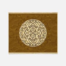 Brown Celtic Art Curls Throw Blanket