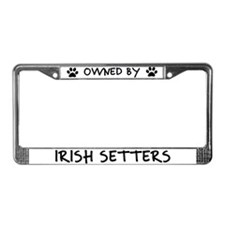 Owned by Irish Setters License Plate Frame