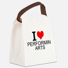 I Love Performing Arts Canvas Lunch Bag