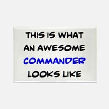awesome commander Rectangle Magnet