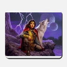 Stormy Wolf Mousepad