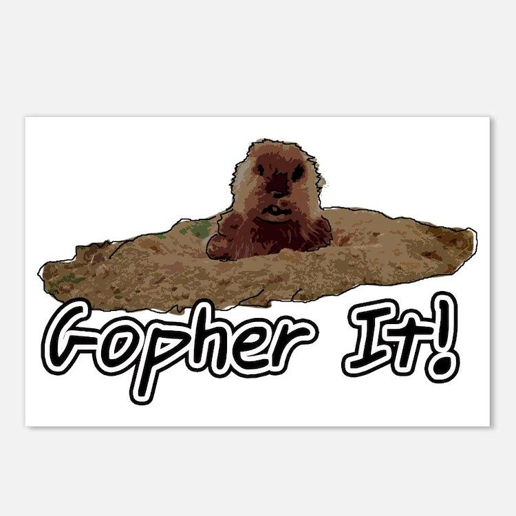 Cute Gopher Postcards (Package of 8)