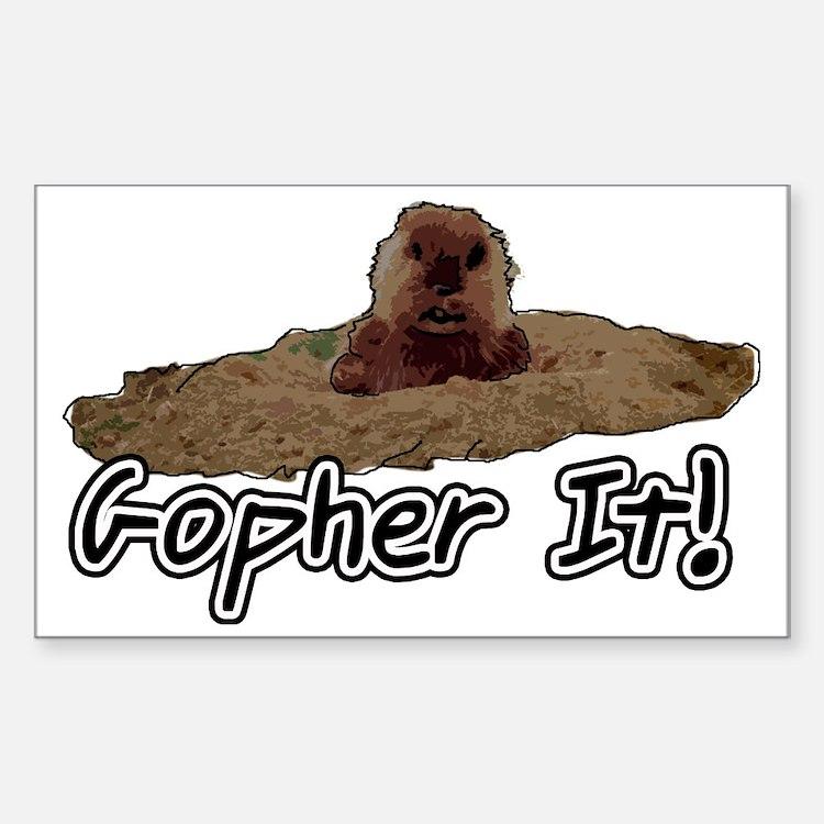 Cute Gopher Sticker (Rectangle)