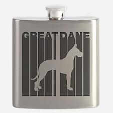 Retro Great Dane Flask