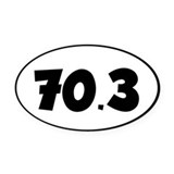 70.3 Oval Car Magnets