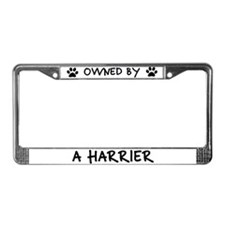 Owned by a Harrier License Plate Frame