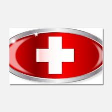 Cute Swiss flag Car Magnet 20 x 12