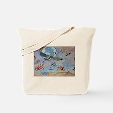 Flight of the heron Tote Bag