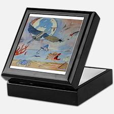 Flight of the heron Keepsake Box