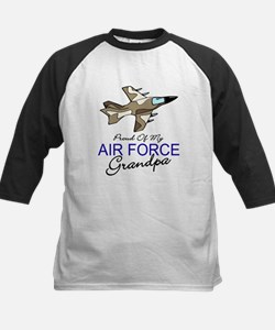 Air Force Grandpa Kids Baseball Jersey