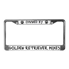 Owned by Golden Retriever Mixs License Plate Frame