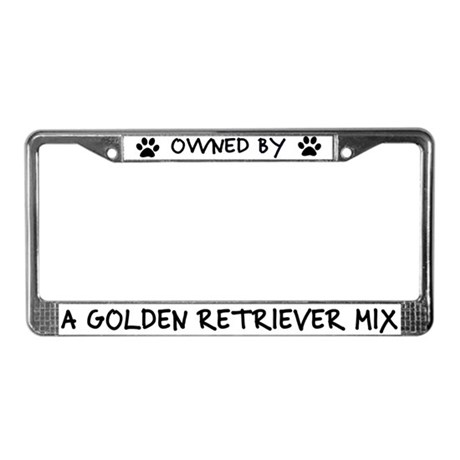 Owned by Golden Retriever Mix License Plate Frame