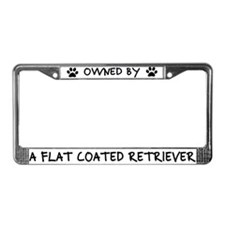 Owned by Flat Coated Retriever License Plate Frame