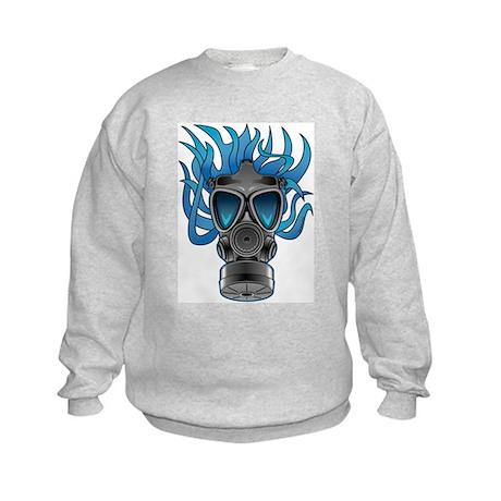 Gas Mask Blue @ eShirtLabs Kids Sweatshirt