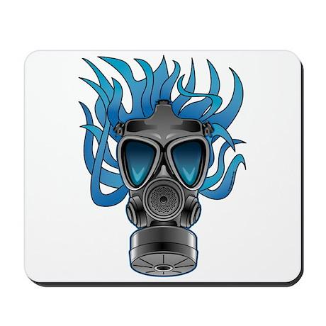 Gas Mask Blue @ eShirtLabs Mousepad