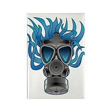 Gas Mask Blue @ eShirtLabs Rectangle Magnet