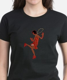 red sequin black flapper T-Shirt