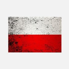 Unique Poland flag Rectangle Magnet