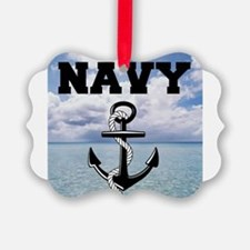 Navy Ornament