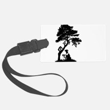 Tree and dogs landscape Luggage Tag