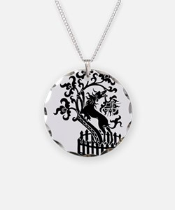 Dog and tree clip art Necklace