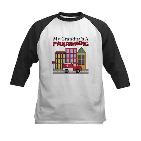 My Grandpa's A Paramedic Kids Baseball Jersey