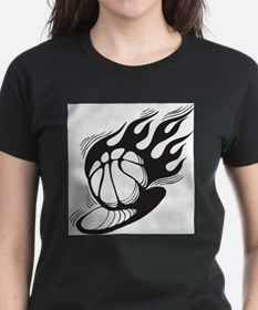 Flaming Basketball T-Shirt