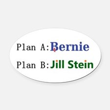 Plan B Oval Car Magnet